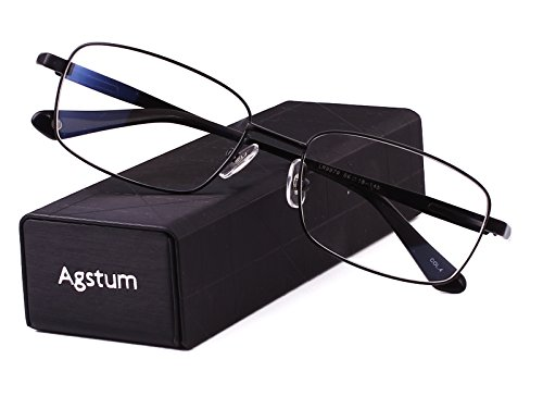 Agstum Titanium Full Rim Glasses Frame Optical Eyeglasses Rxable