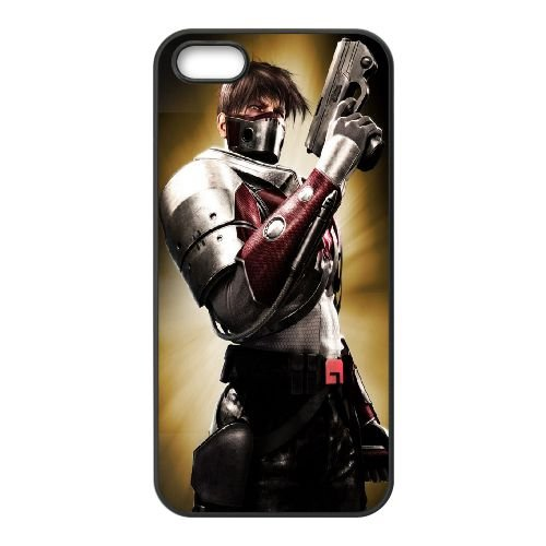 City Of Heroes coque iPhone 4 4S cellulaire cas coque de téléphone cas téléphone cellulaire noir couvercle EEEXLKNBC24255