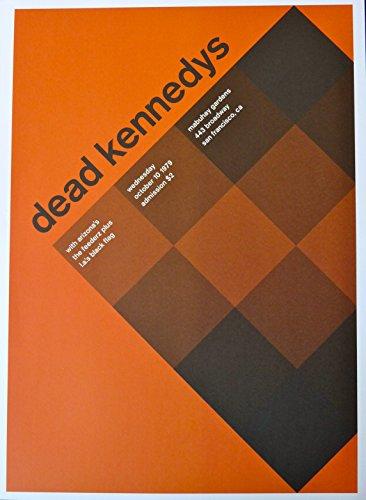 "Dead Kennedys - Black Flag - Live at Mabuhay Gardens - Concert Gig Poster - 10""x14"" - San Francisco 1979"