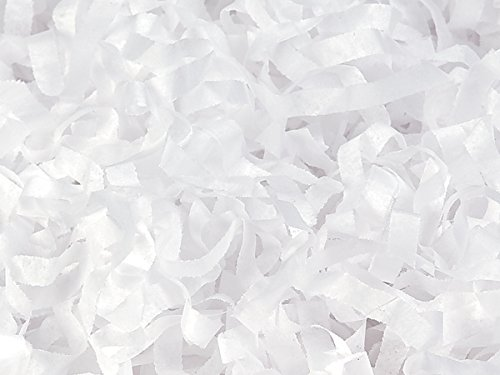 White Tissue Paper Shred 1 lb Bag  - WRAPS-4XWH