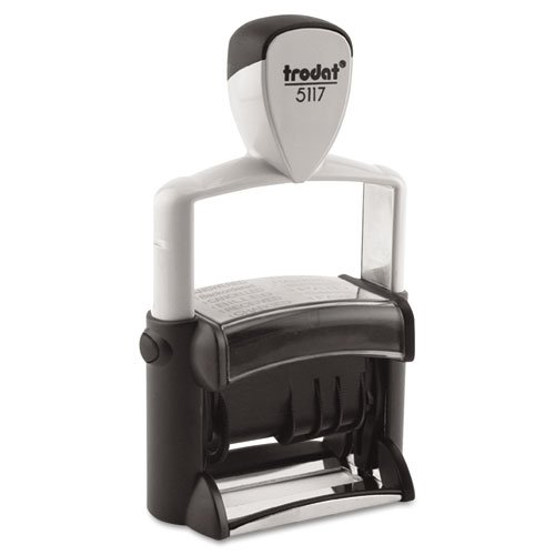 Trodat : Trodat Professional 12-Message Stamp, Dater, Self-Inking, 2 1/4 x 3/8, Black -:- Sold as 2 Packs of - 1 - / - Total of 2 Each by Trodat