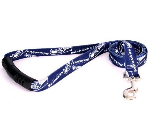 Yellow Dog Design Seattle Seahawks Licensed NFL EZ Leash, Large, 1-Inch by 60-Inch, My Pet Supplies