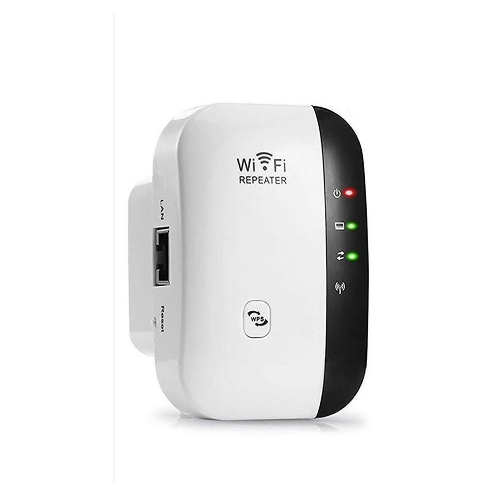 WiFi Range Extender 300Mbps Wireless Repeater Internet Signal Booster 2.4GHz Amplifier for High Speed Long Range Easily Set Up Supports Repeater/Access Point Mode, Extends WiFi to Home & Alexa Devices