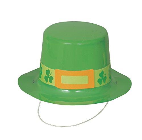 Mini Plastic Saint Patrick's Day Top Hats, 4ct