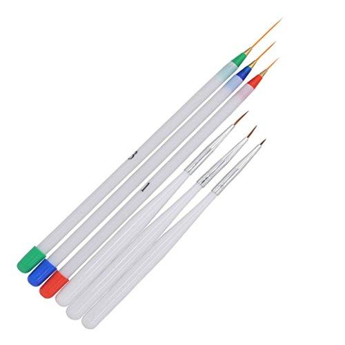 (Women's Gel Nail Brush, Iuhan Women Gel Nail Brush Nail Tools Brush Set Flower Pen Fan Pen Dizzy Pen (6PC))