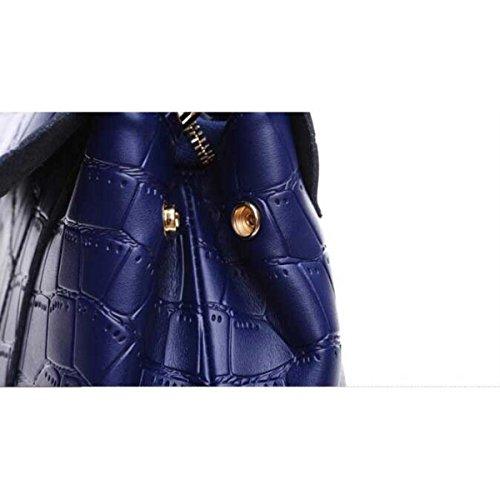 Donne Moda Classico In Pelle Borsa Sacchetto Del Messaggero,Royalblue-OneSize