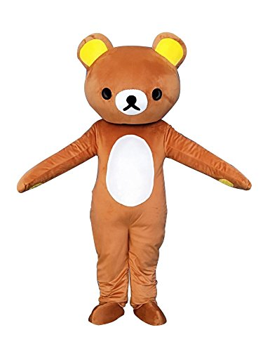 Sinoocean Rilakkuma Kuma Bear Adult Mascot Costume Fancy Dress Cosplay Outfit -