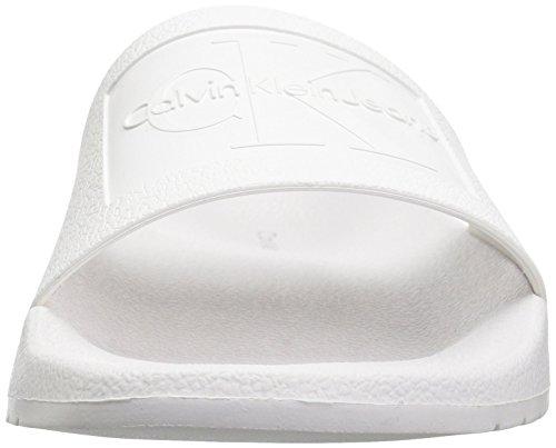 Bout Calvin Klein Homme Vincenzo Ouvert Jelly BlkSandales Blanc n0wOPk8X