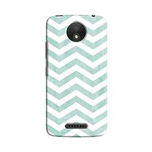 Cover It Up - Blue Bubblegum Stripe Moto C Hard case