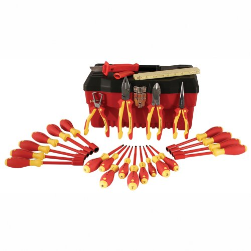 Wiha 32879 25-Piece 1000-Volt Insulated Pliers and Screwdriver Set