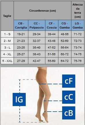 classe Relaxsan K2 Collant microfibra 2 sanitari Beige M2190 gravidanza compressione XBXRSq