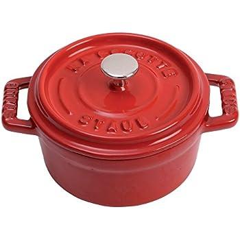 Staub 40509-799 Cast Iron Mini Round Cocotte, 0.25-quart, Cherry