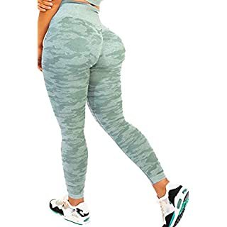 AEEZO Women's High Waist Tummy Control Workout Gym Vital Seamless Leggings Yoga Pants Butt Lifting Yoga Sport Tights
