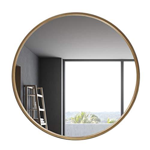 XFPINK Hd Vanity Mirror Makeup Mirror Round Bathroom Wall-Mounted Mirror Decorative Hanging -