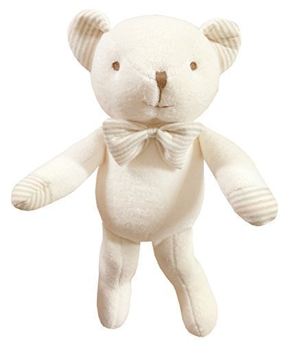 - (Lovely Bear)100% Certified Organic Cotton Baby First Doll 11 inches (No Dyeing Natural Organic Cotton)
