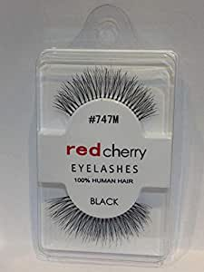 Eye Lashes with Glue by Red Cherry, Black, NO M748