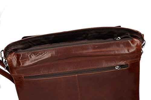 916 portadocumenti pelle VH99 ORNA Cartella ufficio marrone professionale borsa daY7nRq