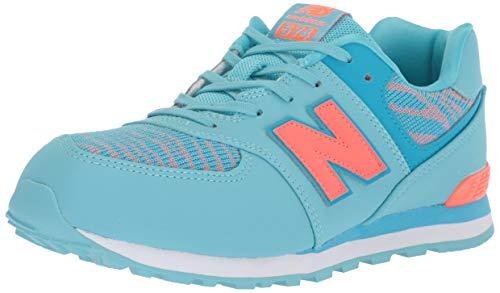 New Balance Girls' Iconic 574 Sneaker, Enamel Blue/Dragonfly, 11 M US Little Kid