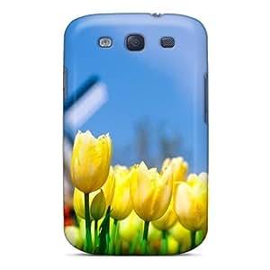 Galaxy High Quality Tpu Case/ Yellow Tulip TSnxGjT6657EYjgN Case Cover For Galaxy S3