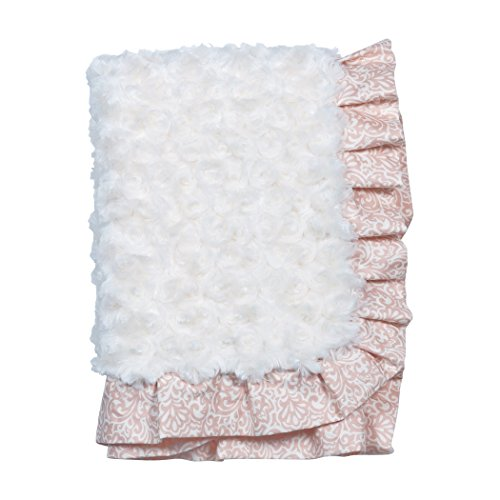 Trend Lab Waverly Rosewater Glam Ruffled Rosette Baby - Blanket Satin Ruffle