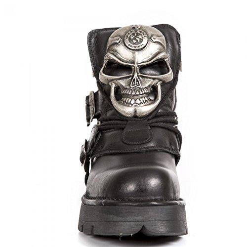 New Rock Laarzen M.1489b-r1 Gothic Hardrock Punk Unisex Stiefelette Schwarz