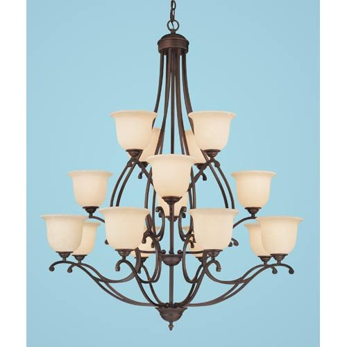 Millennium Lighting 1016-RBZ Courtney Lakes 16-Light Chandelier in Rubbed Bronze ()