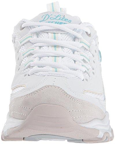 Skechers Sport Donna Da Donna Dlites-new Sneaker Da Viaggio Bianco Naturale