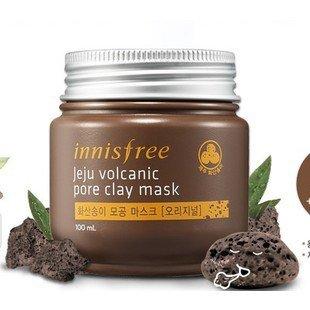 K-Beauty : Brand Innisfree Acne Treatment Mask Face Care Jeju Volcanic Mud Pore Clay Mask Jeju Volcanic Mud 100g Smooth Shrink Pores