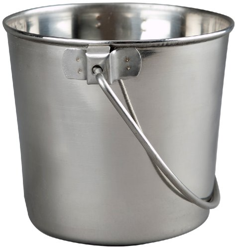 (Advance Pet Products Heavy Stainless Steel Round Bucket, 9-Quart)