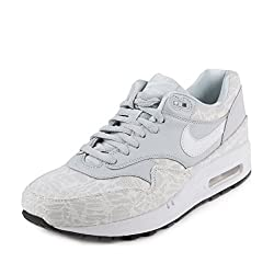 Nike Womens WMNS Air Max 1 JCRD Pure Platinum/White-Black Fabric Size 6