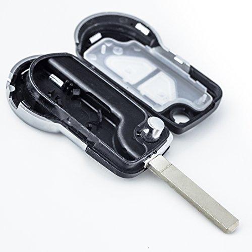 Télécommande avec lame compatible avec les clés auto : 2 boutons : ouverture et fermeture des portes 30%OFF