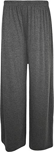 WearAll Plus Size Women's Palazzo Trousers - Dark Grey - US 20-22 (UK 24-26)