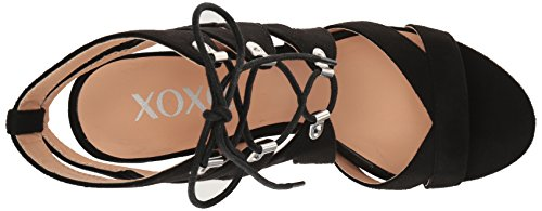 Women's Heeled Black Barnie XOXO Sandal p8S8Y