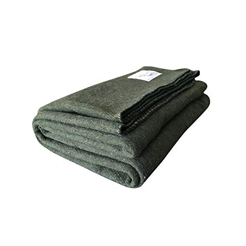 Woolly Mammoth Woolen Company Explorer Collection Wool Blanket (Hunter Green) ()