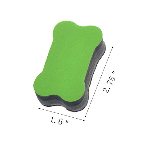 Generic Magnetic Small Whiteboard Dry Erasers 10 Pcs Random Color