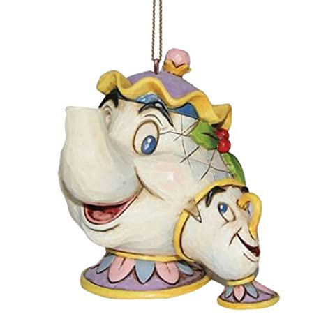 Disney Traditions by Jim Shore 'Mrs Potts & Chip' Hanging Ornament (Disney Traditions Beast)