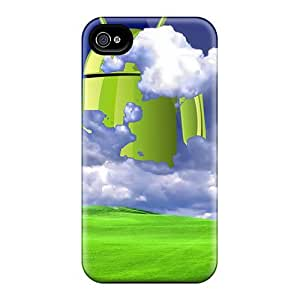 Flexible Tpu Back Case Cover For Iphone 4/4s - Hi Android
