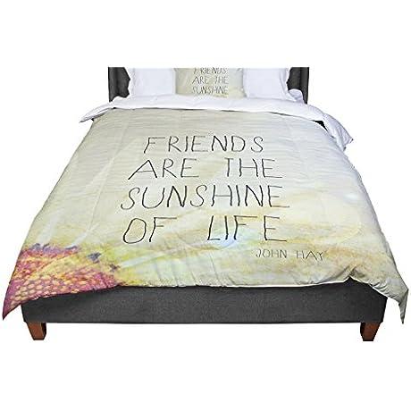 KESS InHouse Rachel Burbee Friends Sunshine Twin Comforter 68 X 88