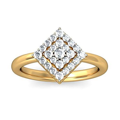 Or jaune 18K, 0,46carat Diamant Blanc (IJ | SI) en diamant