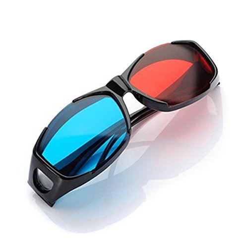 Red Blue 3d Glasses Frame for Dimensional Anaglyph Movie DVD