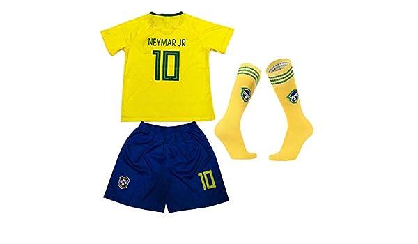 Pantalones cortos de verano de fútbol Brasil Inicio # 10 ...