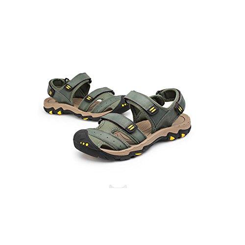 uk6 Verde uomo Muma Beach Colore Scarpe Verde pelle Scarpe estive Perfect Taglia per Eu39 in cn39 casual q4w6aSB4