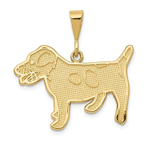 Nina's 14k Yellow Gold Jack Russell Terrier Dog Charm Pendant - Gold Terrier Dog Charm