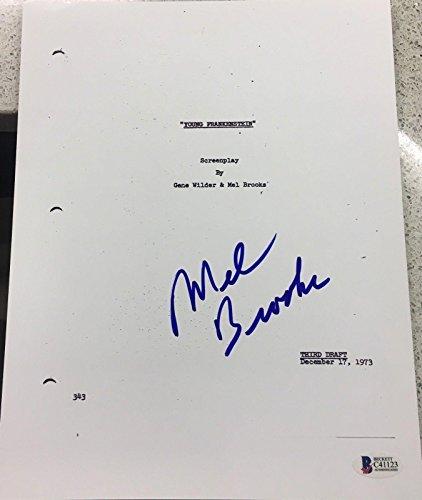 "Mel Brooks Signed Autograph Full ""young Frankenstein"" Movie Script Bec"