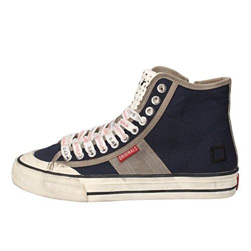 D.A.T.E. Date Sneakers Donna 37 EU Blu Grigio Tessuto Camoscio AE580