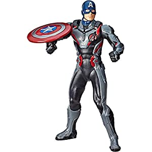 Avengers Marvel Endgame Shield Blast Captain America 13″-Scale Figure Featuring 20+ Sounds & Phrases