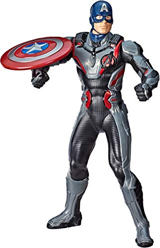"Avengers Marvel Endgame Shield Blast Captain America 13""-Scale Figure Featuring 20+ Sounds & Phrases"