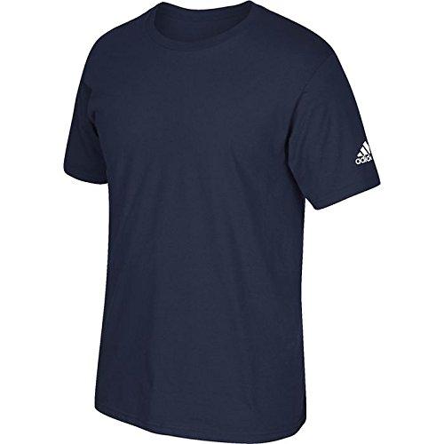 Maglietta Adidas Manica Corta Con Logo Logo Collegiale Blu Scuro