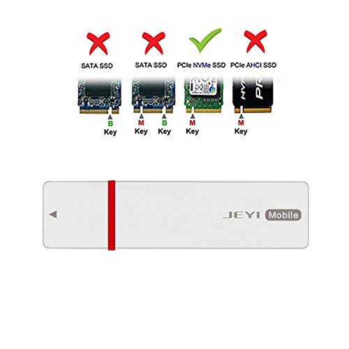 M.2 Aluminum NVME TO USB3.1 Type-C PCIE SSD HDD Enclosure M-KEY SSD TO USB-C Adapter (white)