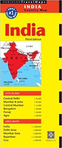 India Travel Map (Periplus Travel Maps): Amazon.co.uk: Periplus ...